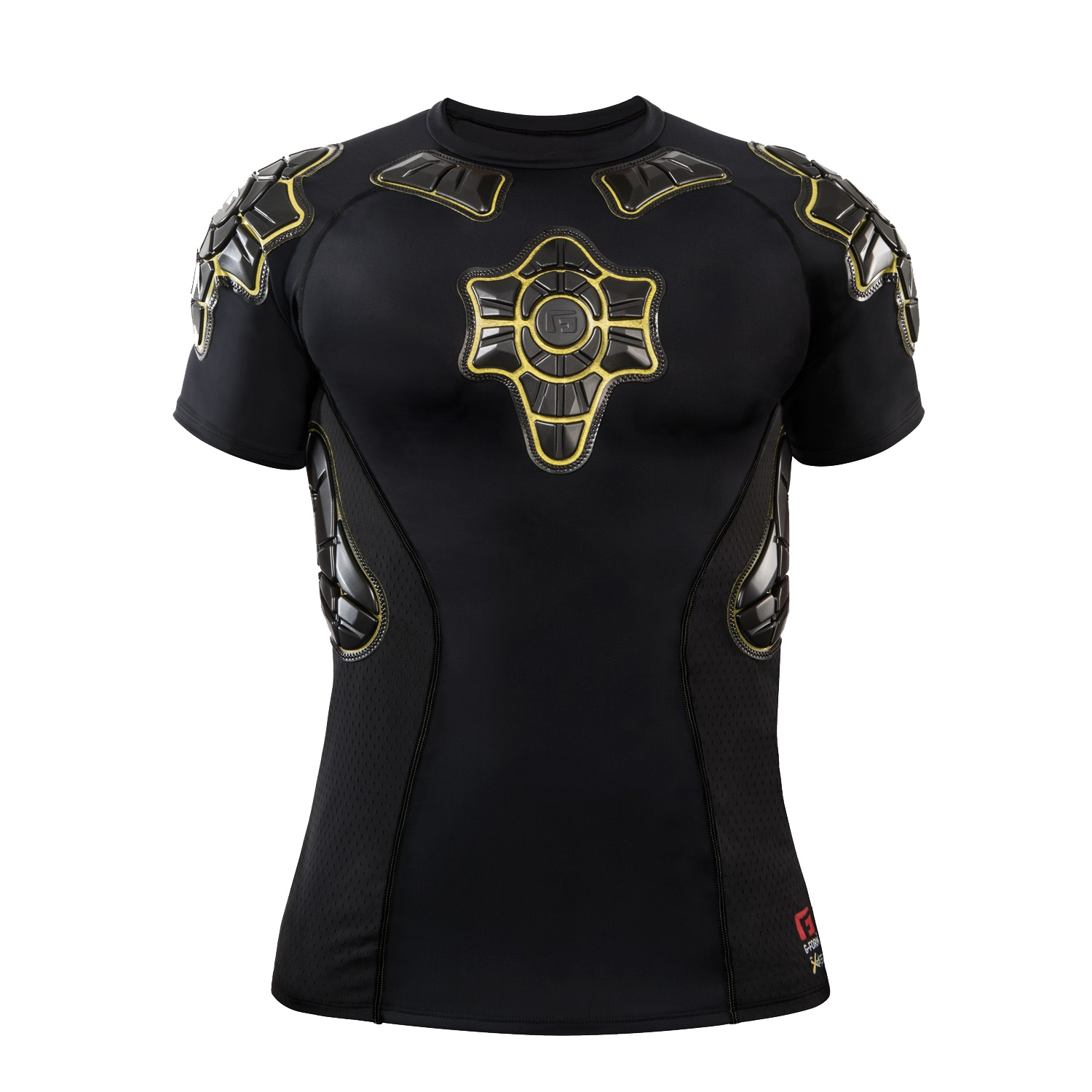 Tee-shirt de protection G-Form Pro-X Noir/Jaune - S
