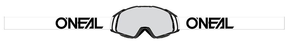 Masque O'Neal B20 Flat Hi-viz Jaune/Bleu Clear