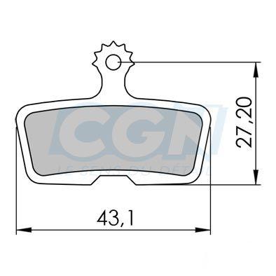 Plaquettes de frein 02 Clarks comp. Avid Code / Code R Métallisée