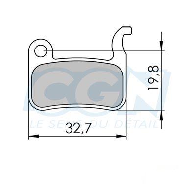 Plaquettes de frein 38 Clarks comp. Shimano / TRP Semi métallique
