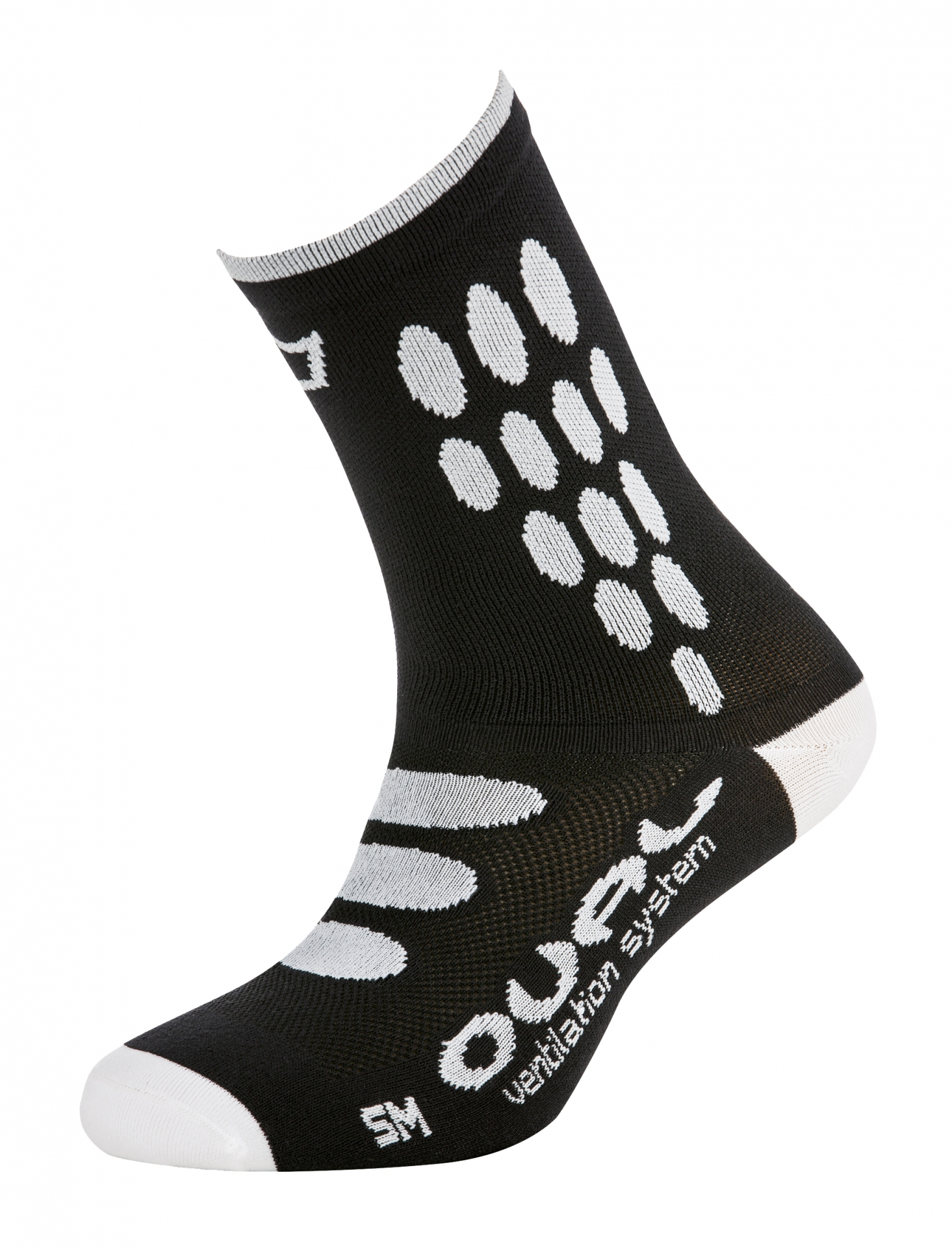 Chaussettes Catlike Oval Supplex Noire/Blanc - 37-42