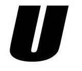 Sticker lettre U Noir