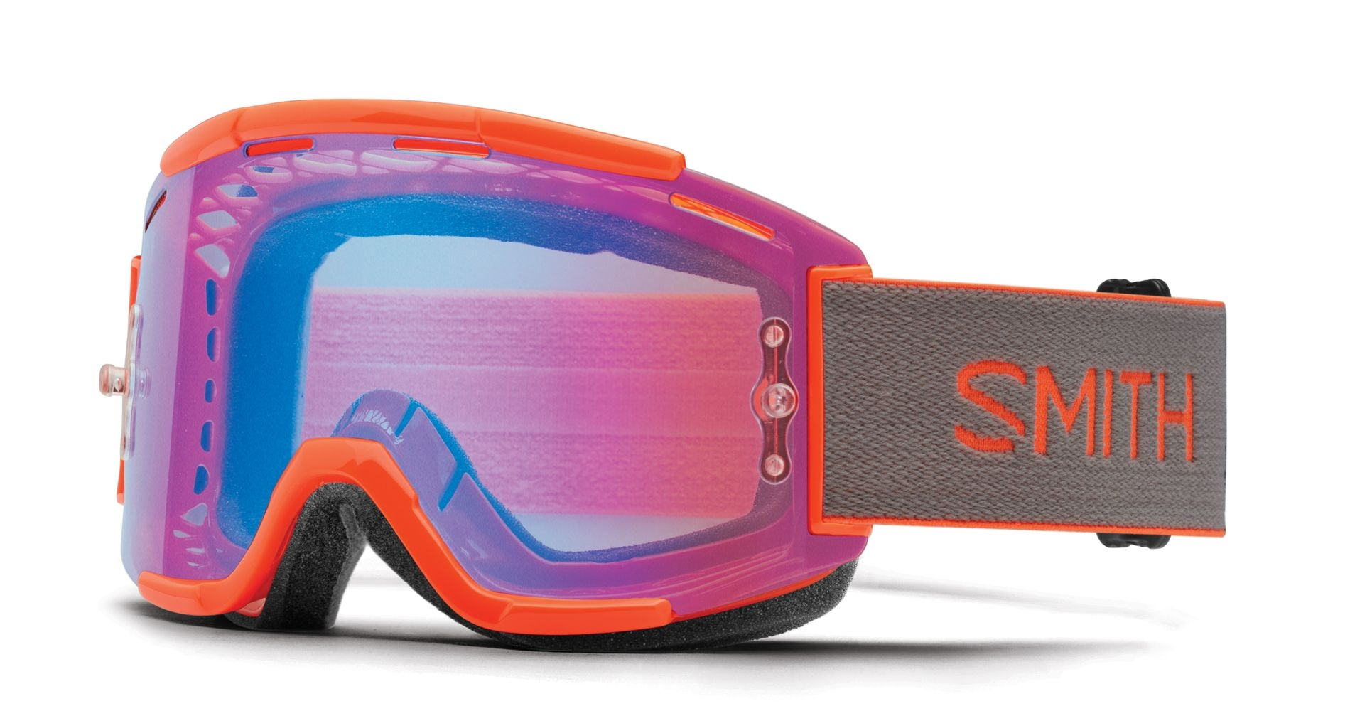 Masque Smith Optics Squad MTB Neon Orange ChromaPop Contrast Rose Flash
