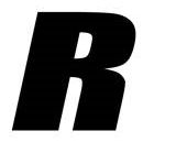 Sticker lettre R Noir