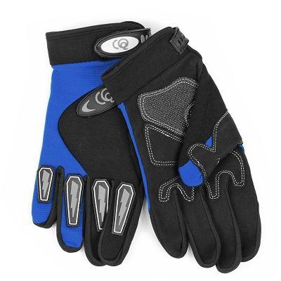 Gants vélo VTT Longs CQ Serrage Velcro Bleu - XL
