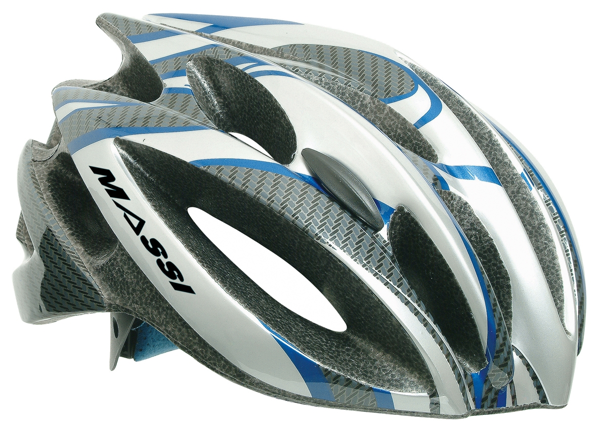 Casque Massi Comp Carbon Blanc/bleu