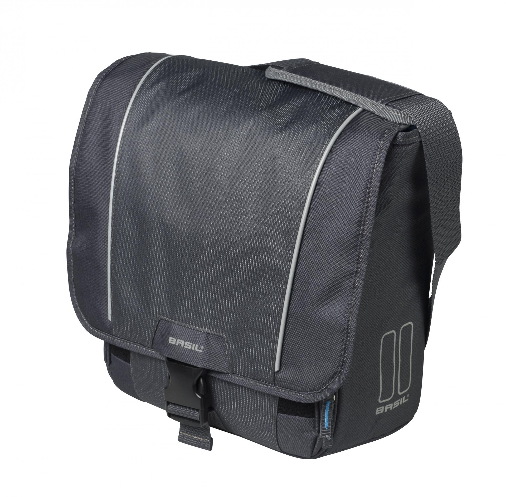 Sacoche arrière latérale BASIL Sport Spécial VAE Avec protège-pluie 18 L Gris Graphite