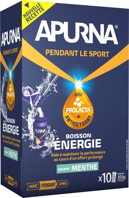 Boisson énergie Apurna Menthe Étui 10x35 g
