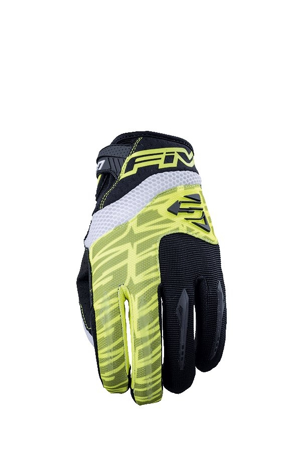 Gants cross Five MXF 2 jaune fluo - L