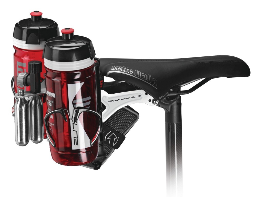 Support porte-bidons triathlon Elite Skekane Noir