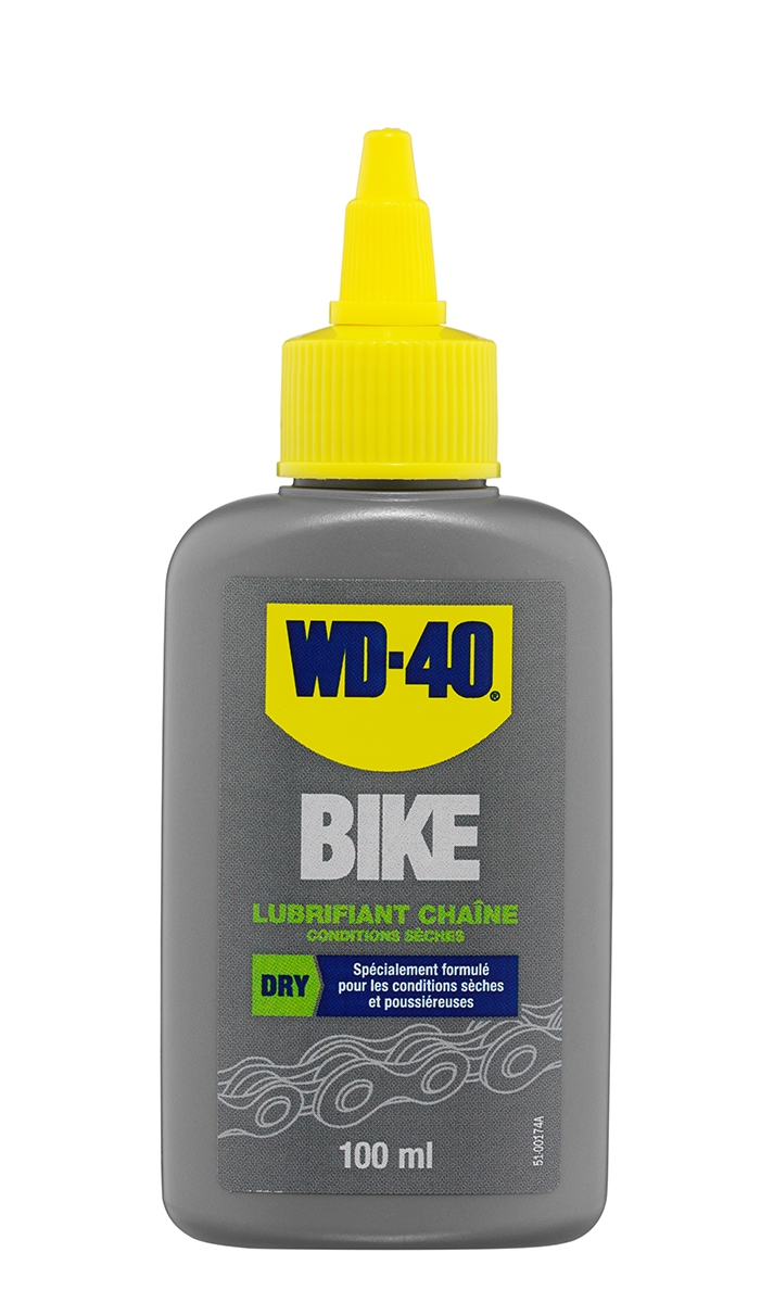 Lubrifiant chaîne WD-40 Bike conditions sèches 100 ml