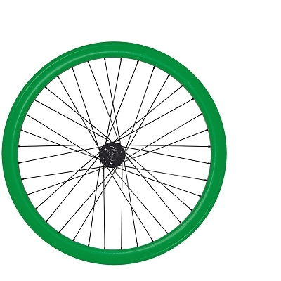 Roues fixie 700c double parois 43 mm (paire) Vert