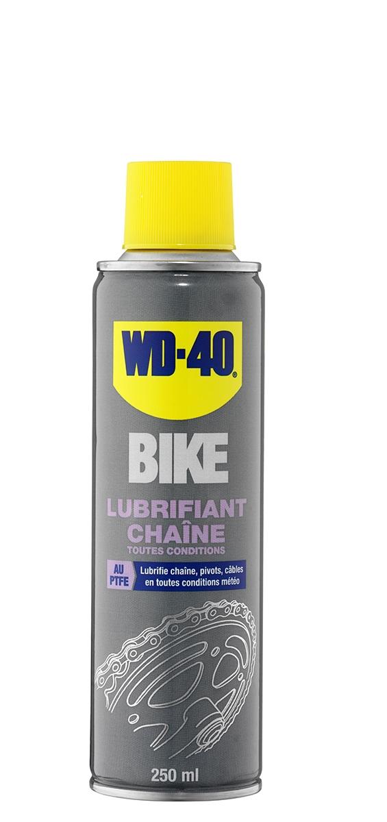 Lubrifiant chaîne WD-40 Bike PTFE toutes conditions 250 ml
