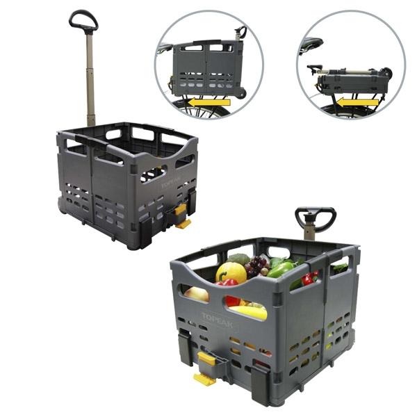 Panier arrière pliant et tractable Topeak Trolley Tote Folding MTX Basket Rear