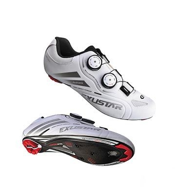 Chaussures route Exustar Advanced E-SR238-SL Carbone Blanc - 42