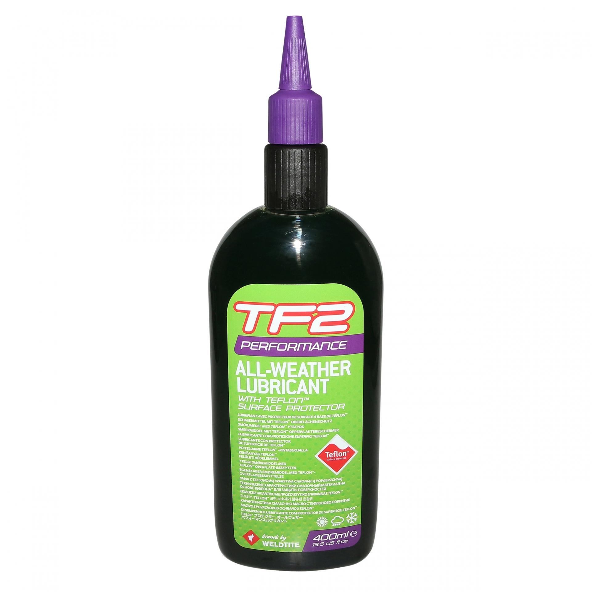 Lubrifiant chaîne Weldtite TF2 Performance toutes conditions au teflon 400 ml