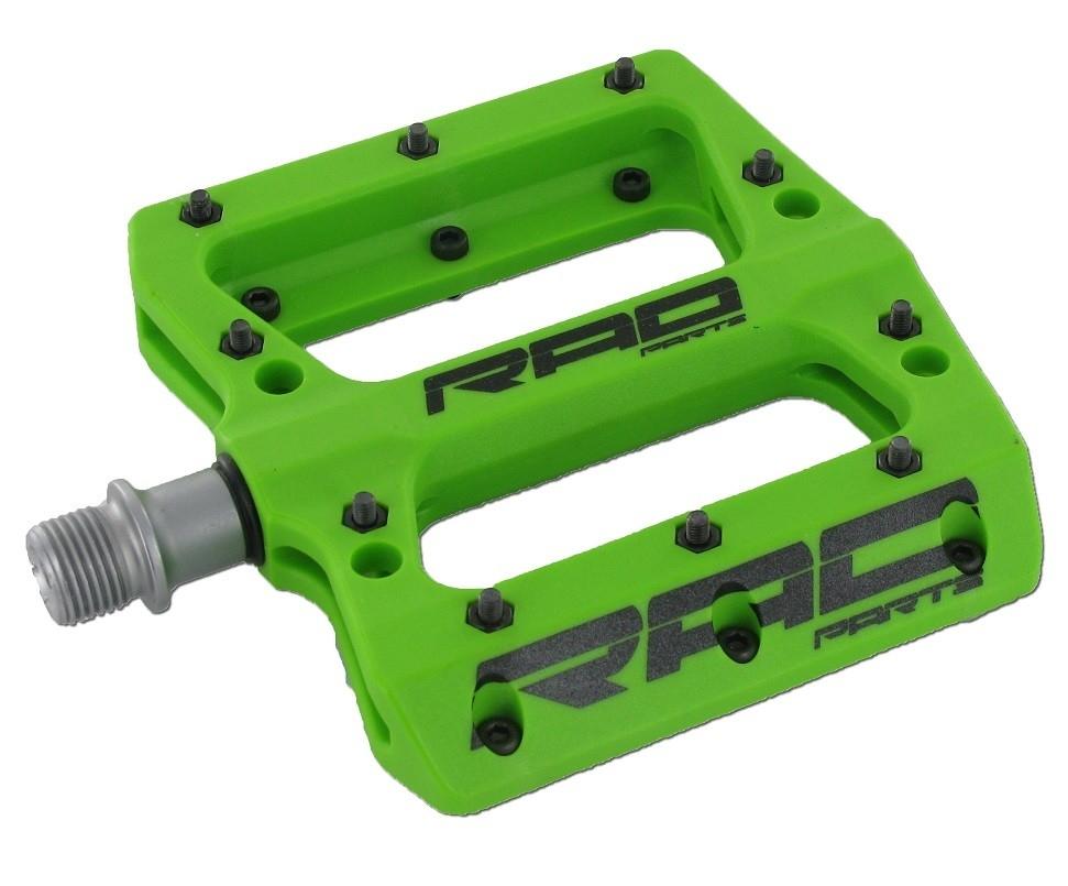 Pédales plates Rad Parts résine Vert