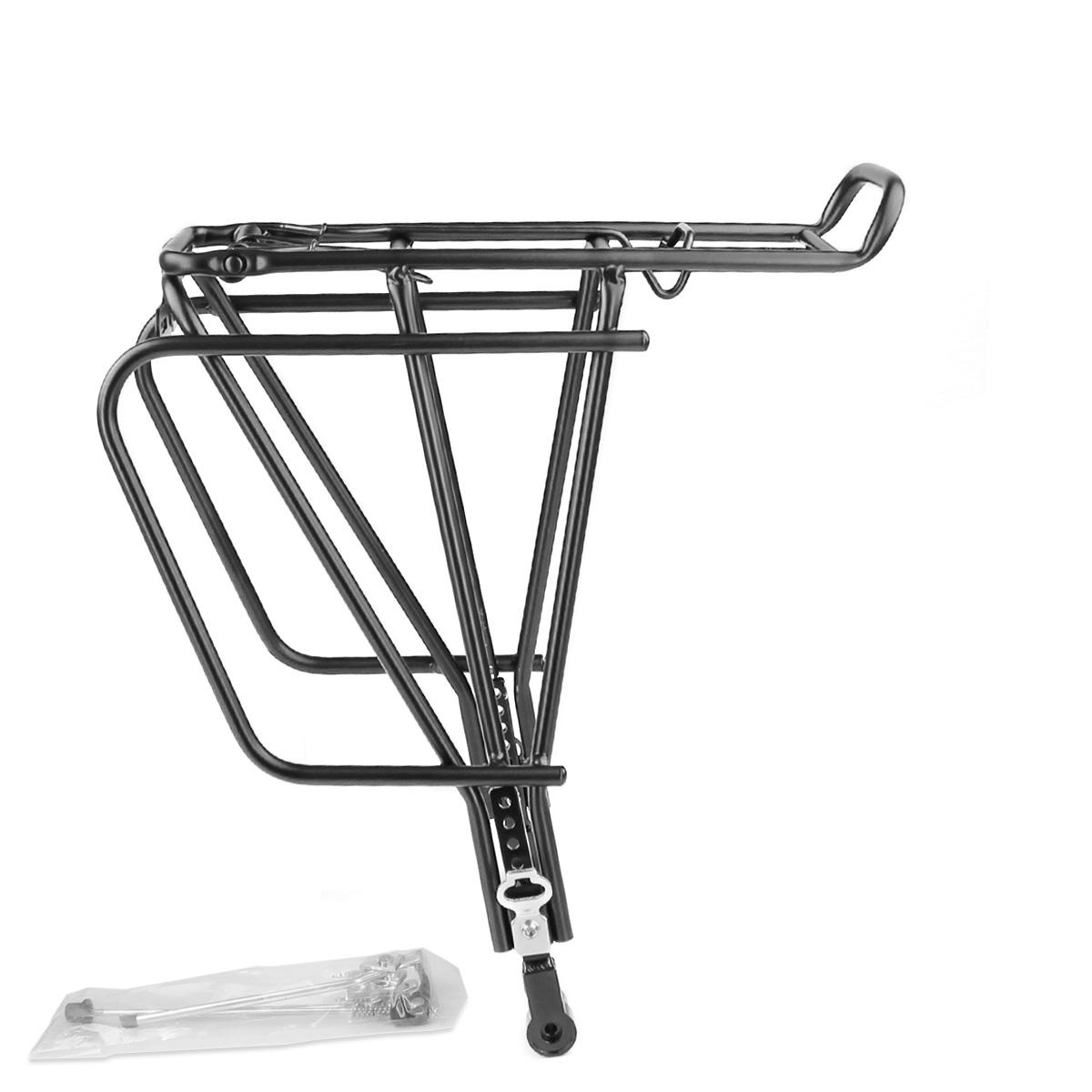 Porte-Bagage vélo WTP Noir arrière réglable spécial frein à disque compatible 26-29\