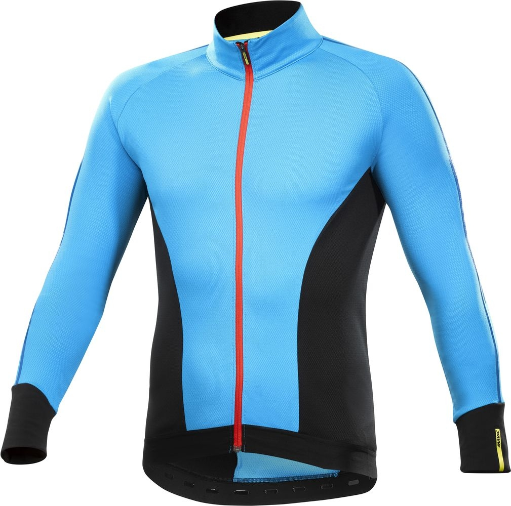 Maillot Mavic manches longues Cosmic Elite Thermo Noir/Bleu Dresden - M