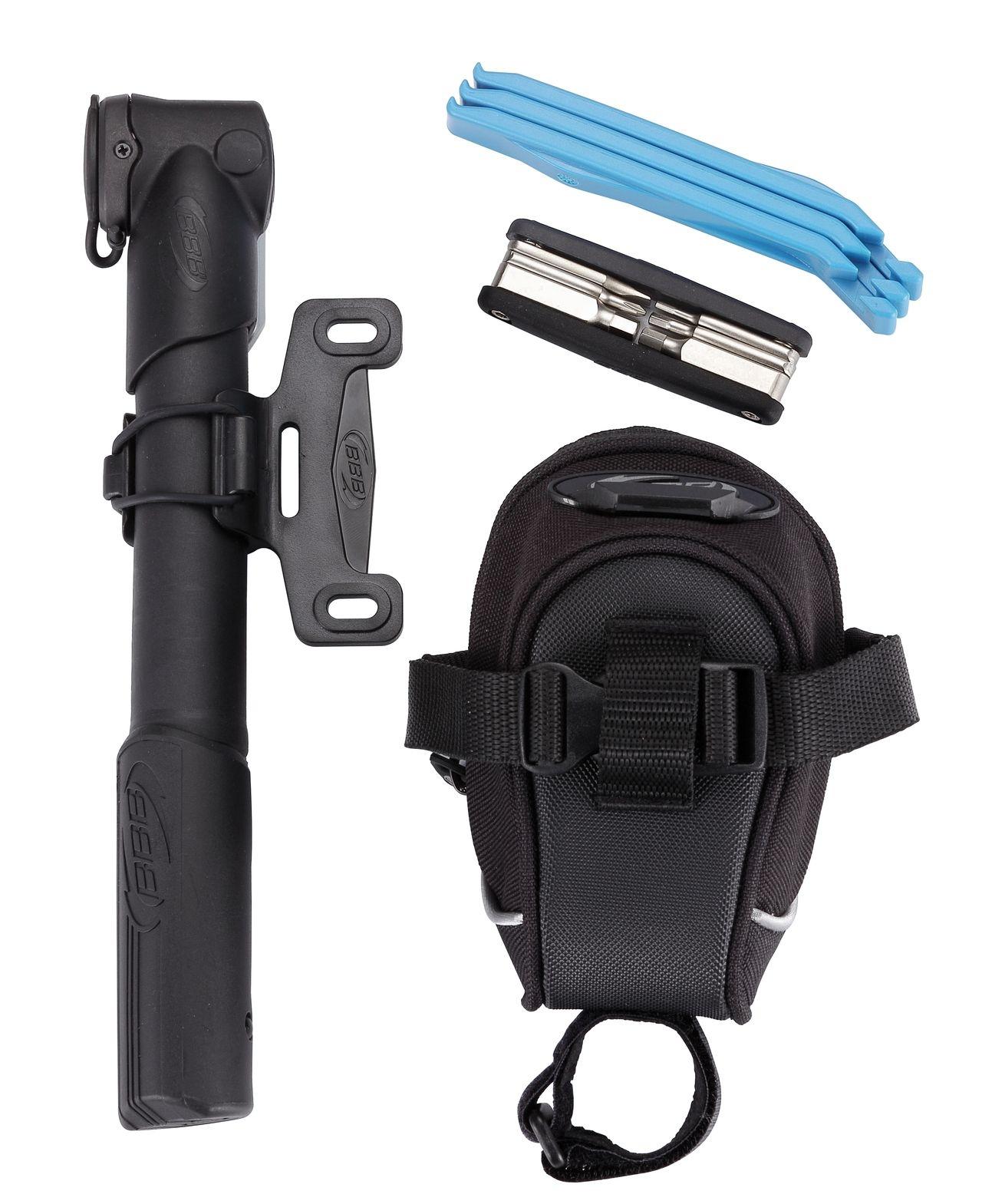 Kit sacoche de selle + pompe + outils BBB Saddlebag Combi S - BSB-51