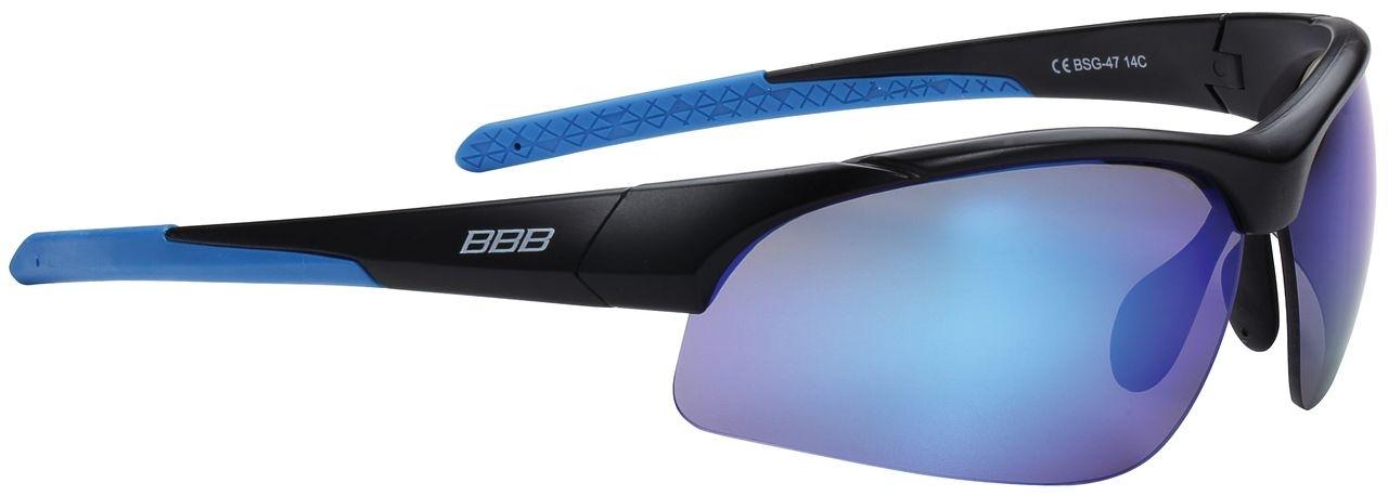 Lunettes BBB Impress (Noir mat/bleu) - BSG-47