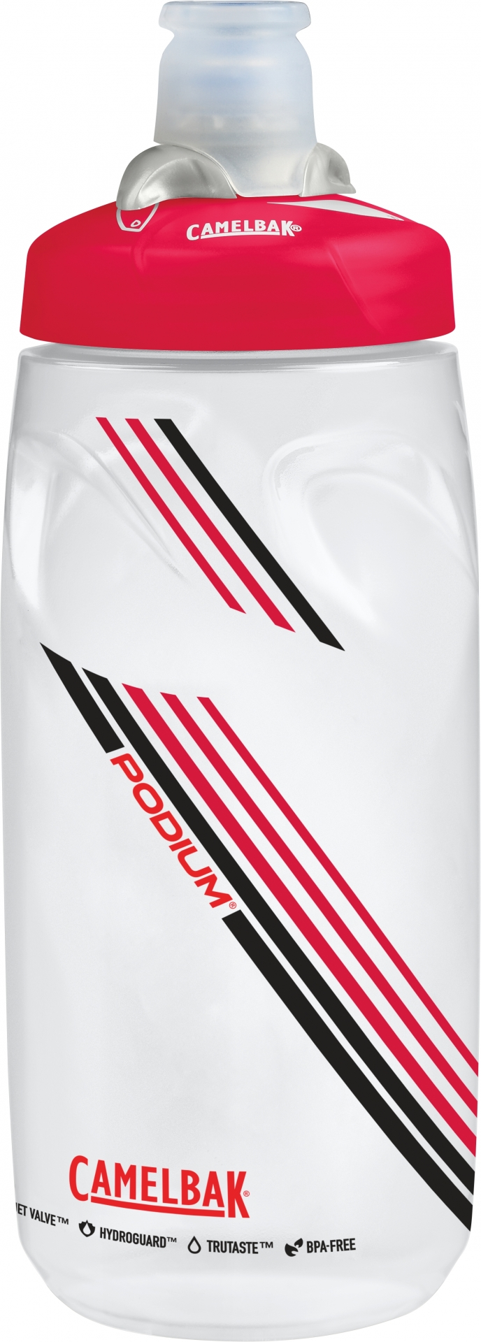 Bidon CamelBak Podium 620 ml Transparent/Rouge