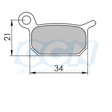 Plaquettes de frein 09 Clarks comp. Formula B4 / Extrême Métallisée