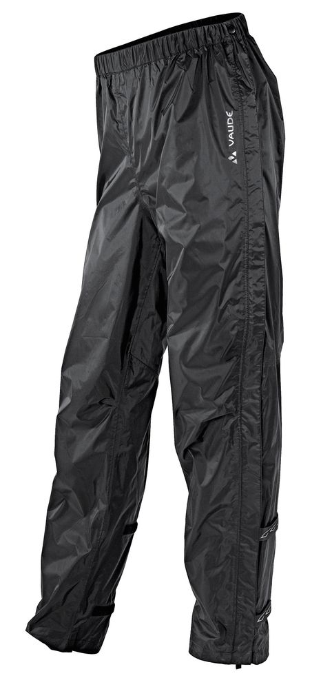 Pantalon imperméable Vaude Men's Fluid Full-zip Pants II Noir - M