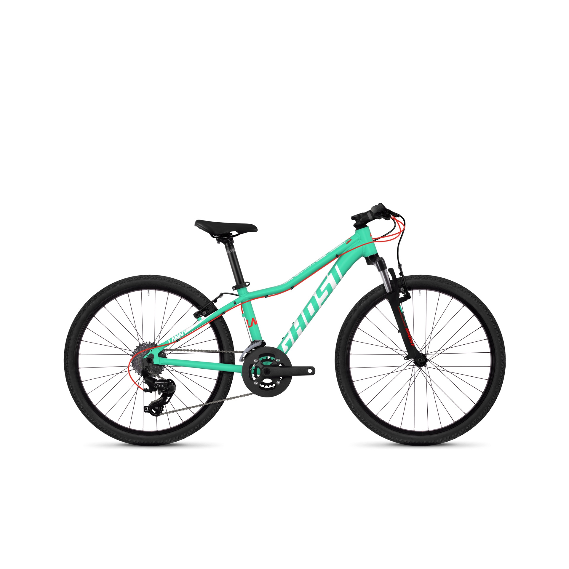VTT semi-rigide Ghost Lanao Kid 2.4 24 Bleu/Rouge/Blanc