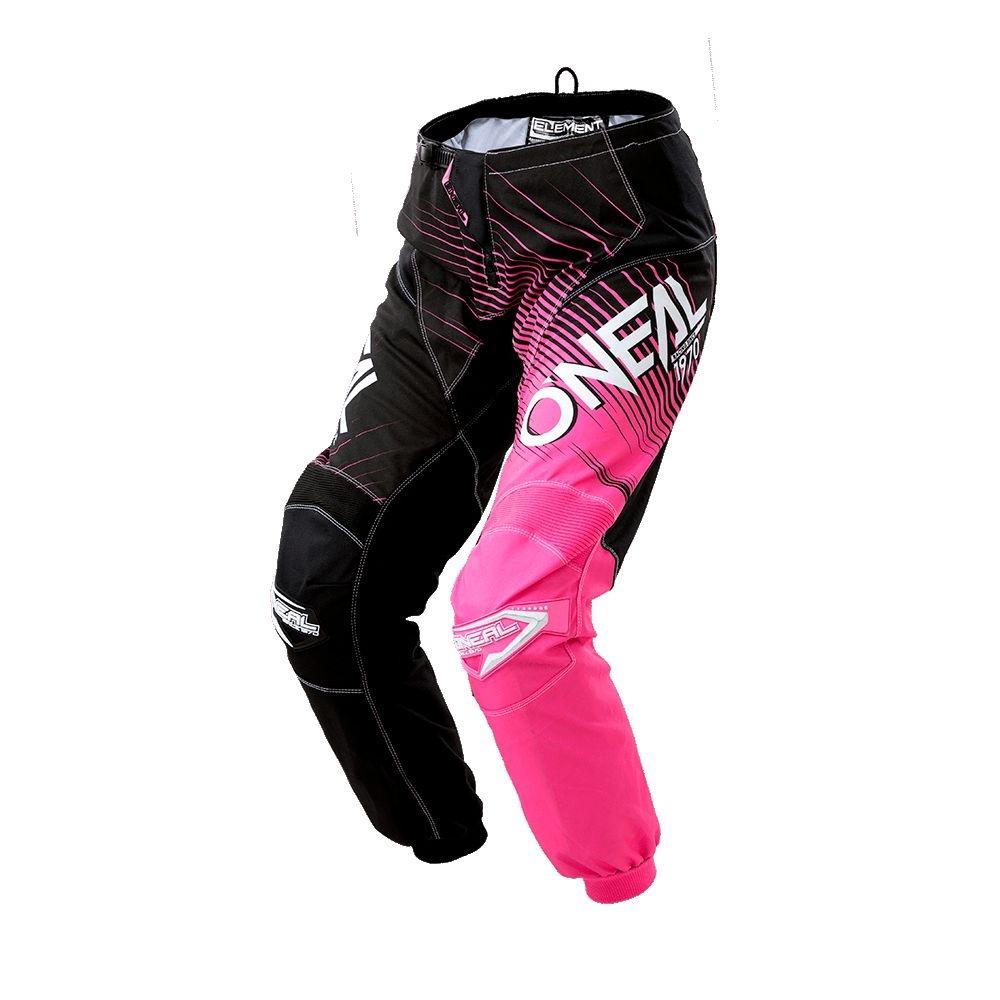 Pantalon O'Neal Element Racewear Femme Noir/Rose - 28