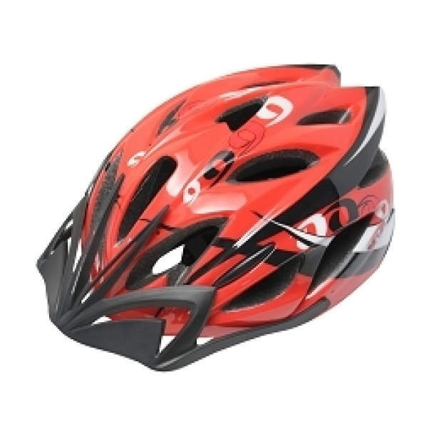 Casque vélo adulte Oktos design Rings V2 (54-58 cm) Rouge