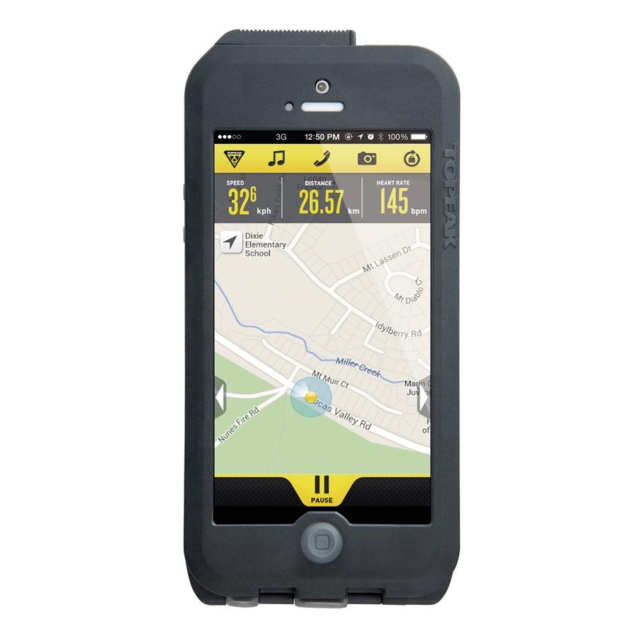Housse étanche et support de SmartPhone Topeak RideCase - iPhone 5 & 5S (gris)