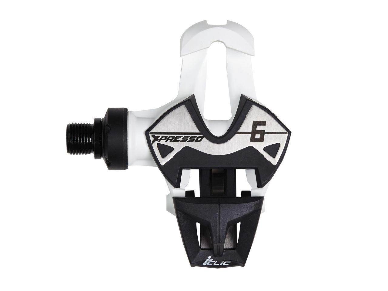 Pédales Time Xpresso 6 (Carboflex Blade & Iclic) Blanc/Noir