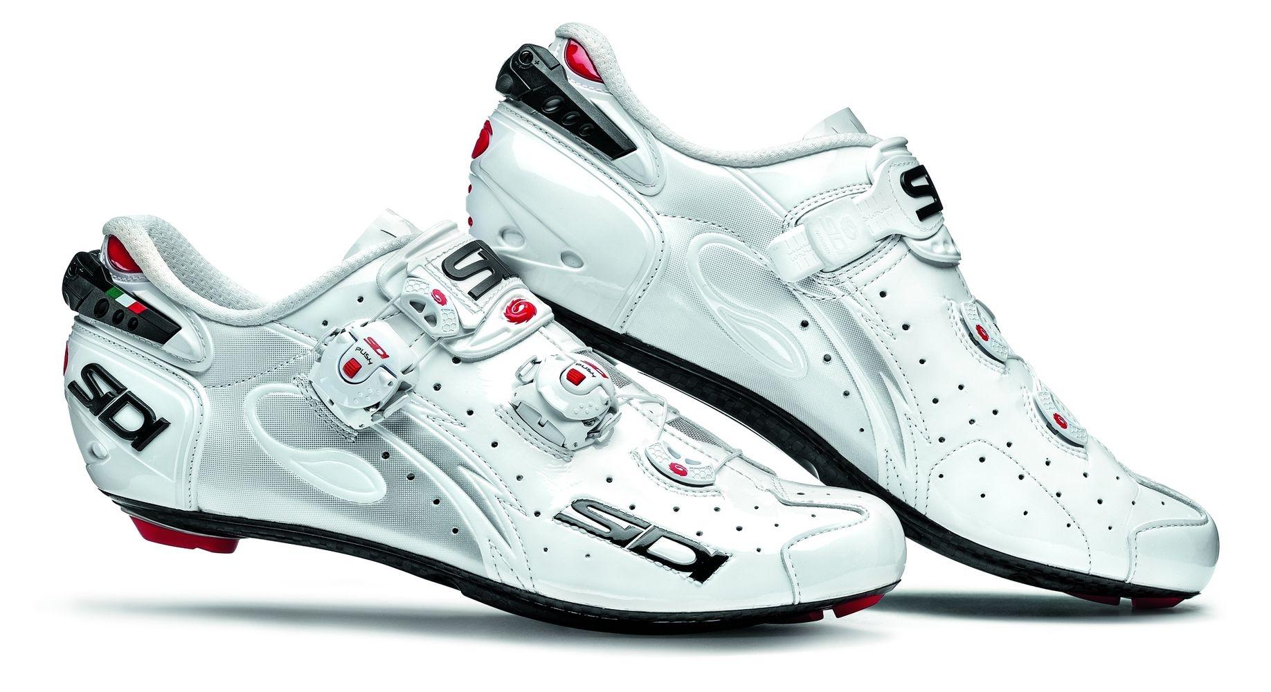 Chaussures Sidi WIRE Carbon Vernice Blanc verni - 42,5