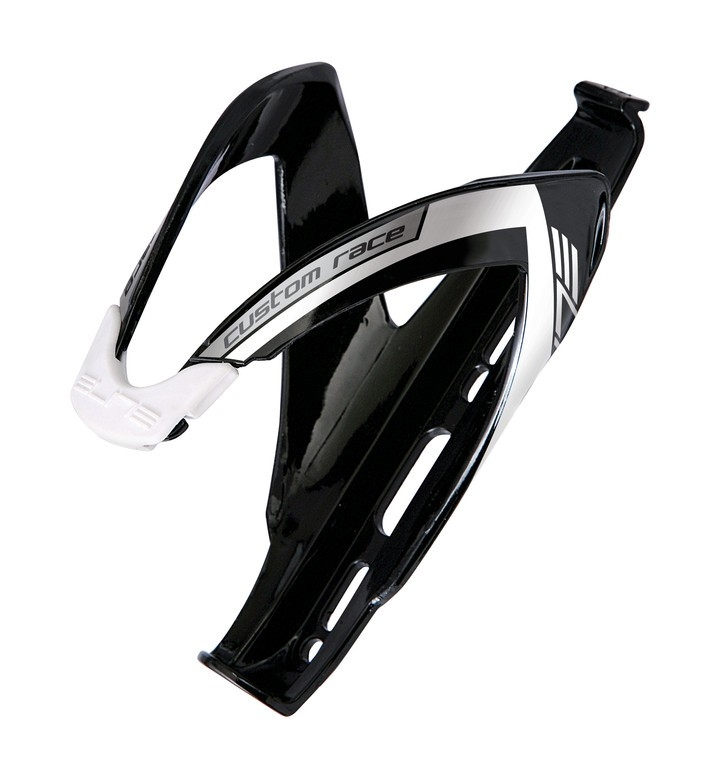 Porte-bidon Elite Custom Race Noir brillant/Argent