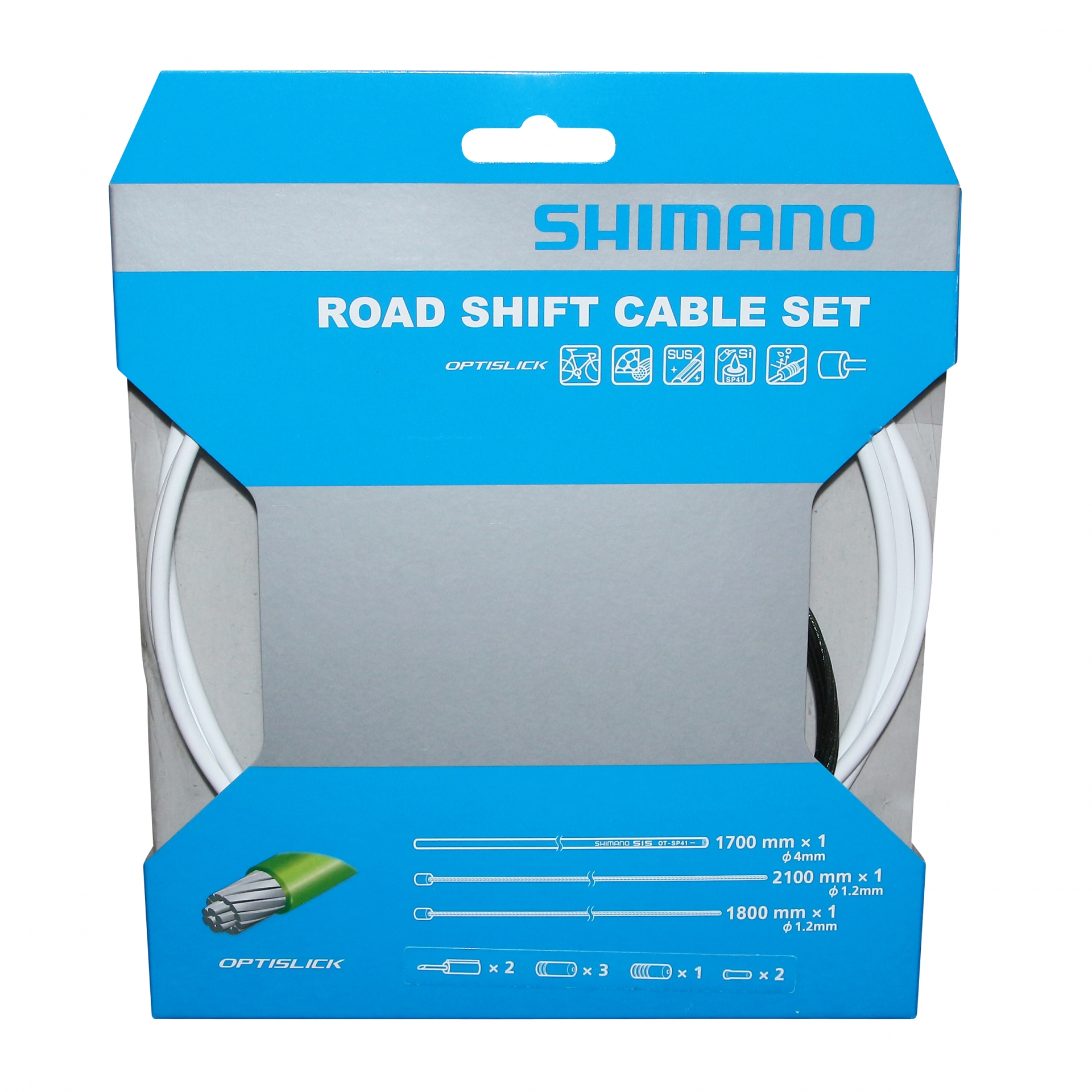 Kit câbles et gaine de vitesses Shimano Optislick Blanc