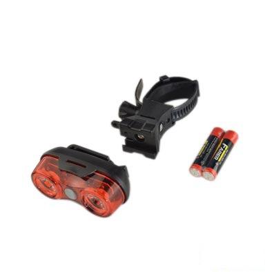 Éclairage AR 2 LEDs puissantes à piles Fix. Tige de selle