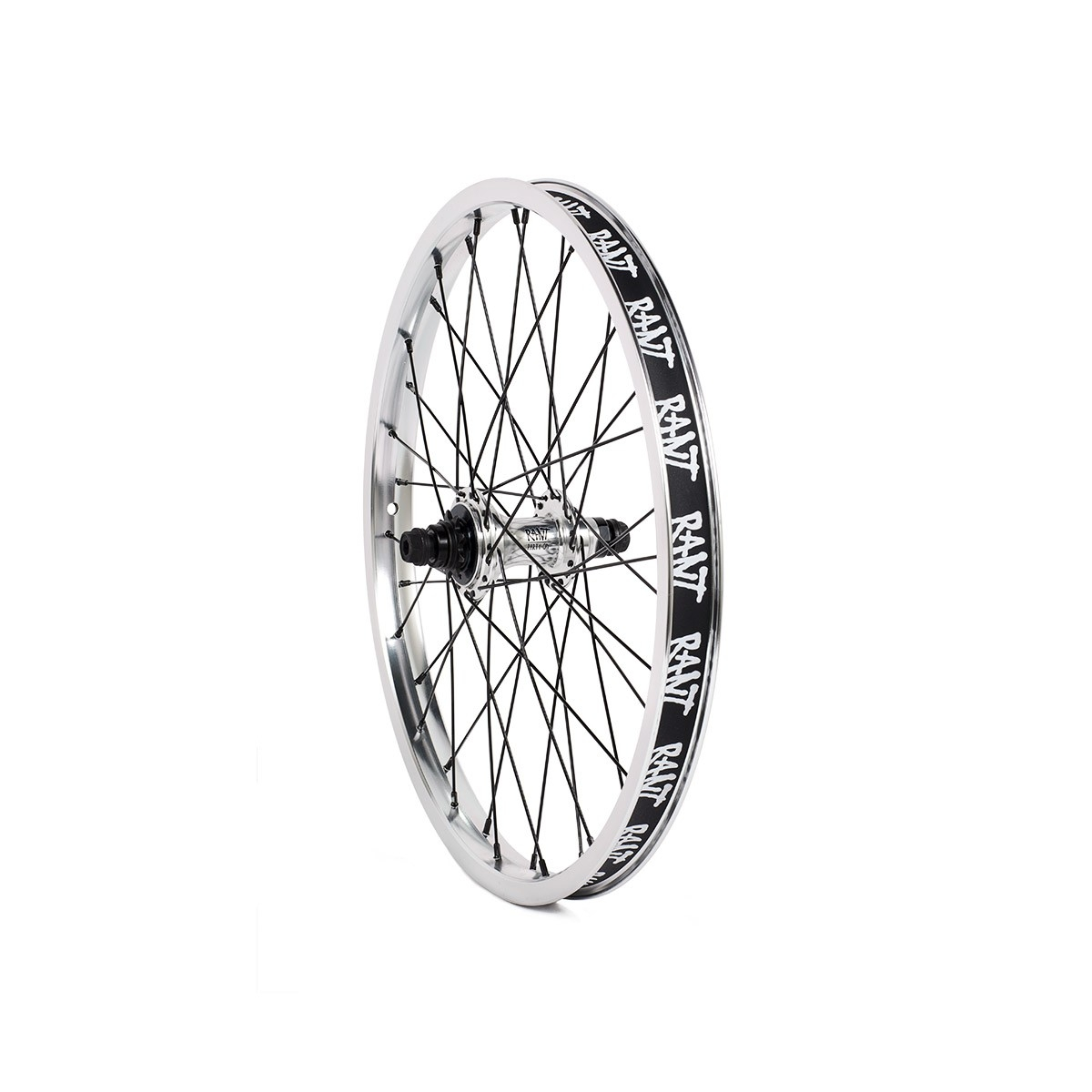 Roue AR BMX Rant Party On Rear Cassette 36H LHD 9 dts Argent