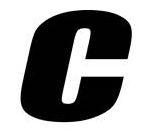 Sticker lettre C Noir