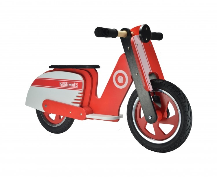 Draisienne Kiddimoto Scooter rouge/blanc 2 ans