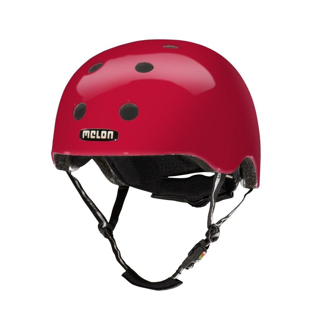 Casque Melon Urban Active Pure Glossy Rouge Cerise - XL-XXL / 58-63 cm