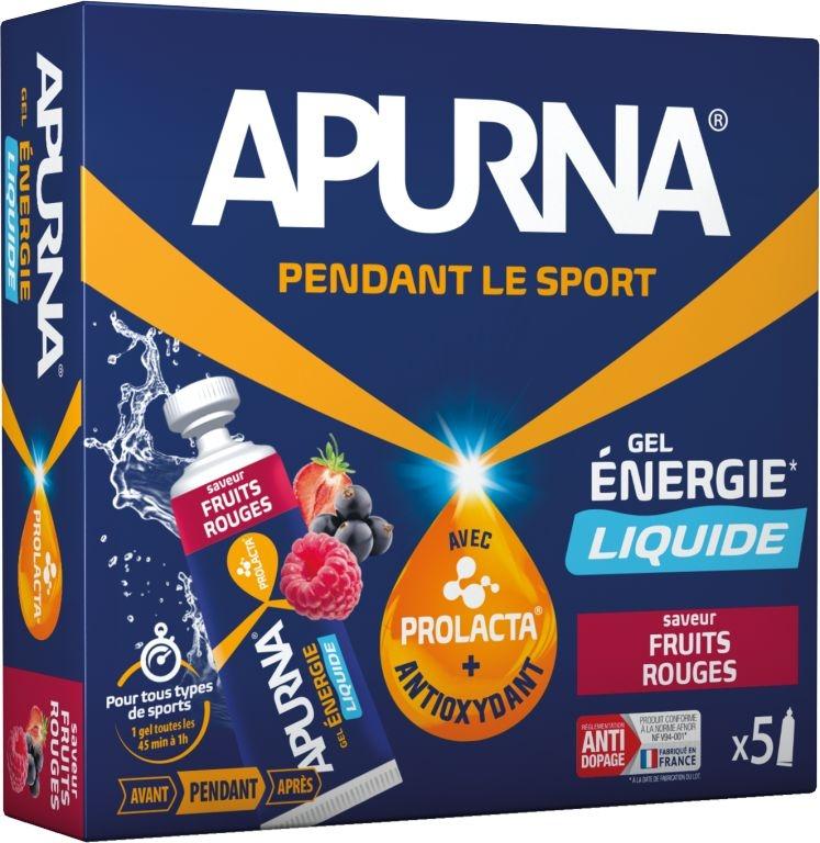 Gel énergie Apurna Liquide Fruits rouges Étui 5x35 g