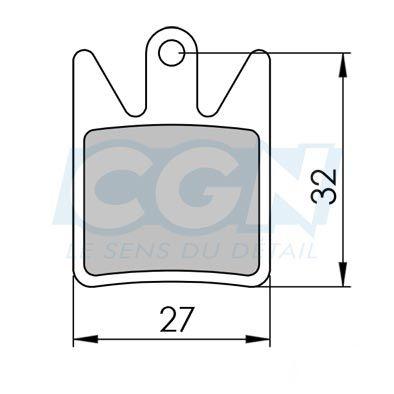 Plaquettes de frein 22 Clarks comp. Hope Enduro4 / DH4 / M4 Organique