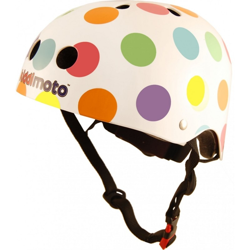 Casque enfant Kiddimoto Pastel Dotty - M (53-58 cm)