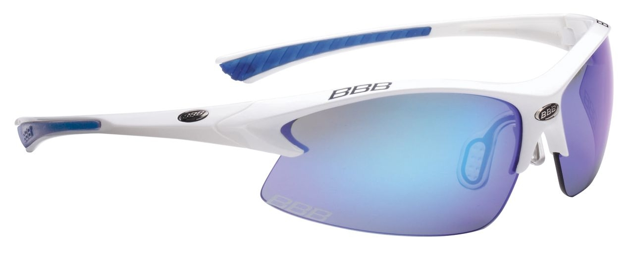 Lunettes BBB Impulse Team verres blue Revo (blanc/bleu) - BSG-38