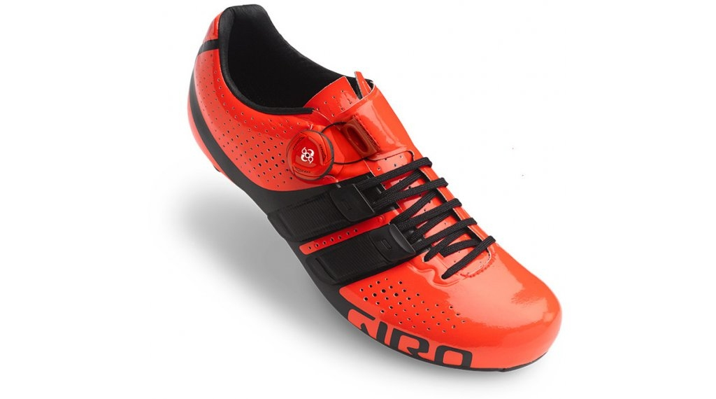 Chaussures route Giro Factor Techlace Rouge/Noir - 44