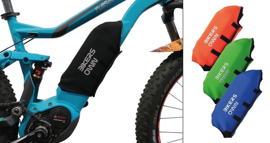 Protection batterie BikersOwn Case4rain Bosch Powerpack 300/400/500 (sur cadre) Noir/Bleu