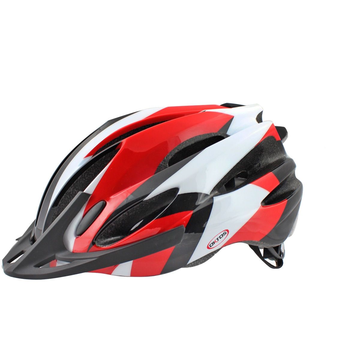 Casque vélo Oktos Adulte Rouge/Blanc - 54/58