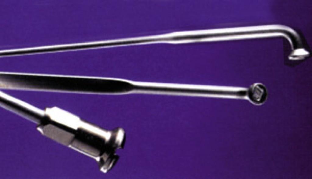 Rayon M 2x286 mm en inox Argent