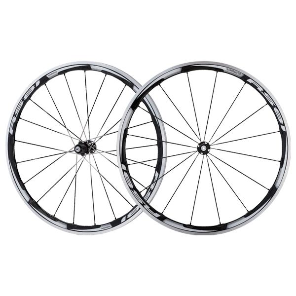 Roues Shimano WH-RS81 C35 CL Carbone à pneu 11V (Paire) Noir